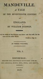 Mandeville by William Godwin