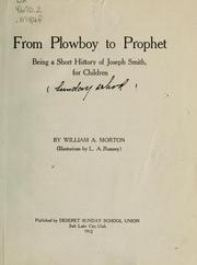 Cover of: From plowboy to prophet | William A. Morton