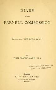 Cover of: Diary of the Parnell commission | John Macdonald