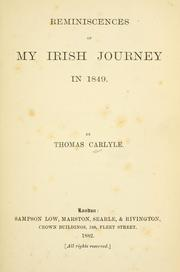Cover of: Reminiscences of my Irish journey in 1849