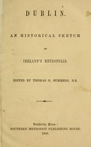 Cover of: Dublin by Summers, Thomas O.