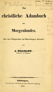 Cover of: Das christliche Adambuch des Morgenlandes