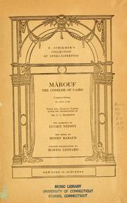 Cover of: Mârouf, savetier du Caire