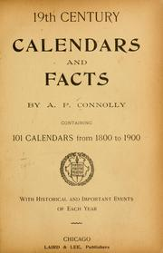 Cover of: 19th century calendars and facts