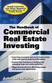 Cover of: The Handbook of Commercial Real Estate Investing | John McMahan