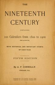 Cover of: The nineteenth century