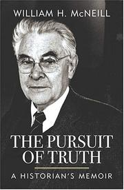 Cover of: The pursuit of truth | William Hardy McNeill