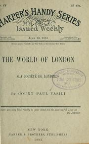 Cover of: The world of London