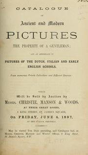 Cover of: Catalogue of ancient and modern pictures, the property of a gentleman