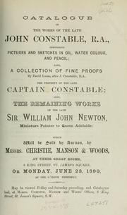 Cover of: Works of the late John Constable, R.A