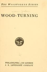 Cover of: ...Wood-turning. | William Fairham