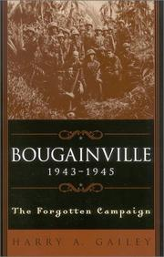 Cover of: Bougainville, 1943-1945 | Harry A. Gailey