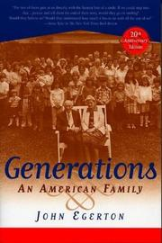 Cover of: Generations