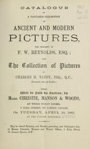 Cover of: Catalogue of a valuable collection of ancient and modern pictures