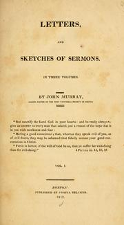 Cover of: Letters, and sketches of sermons | John Murray