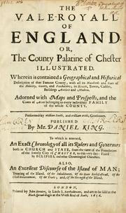 Cover of: The vale-royall of England, or, The county palatine of Chester illustrated | Daniel King