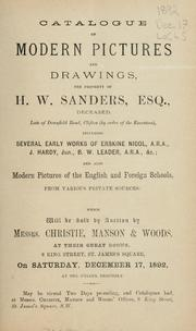 Cover of: Modern pictures and drawings; modern pictures of the English and foreign schools