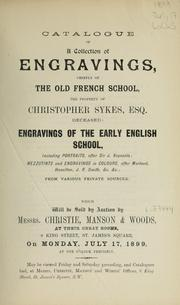 Cover of: Engravings of the early English school