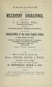 Cover of: Mezzotint engravings; engravings of the early English school, in stipple, mezzotint and colours