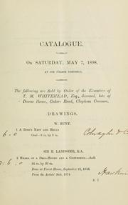 Cover of: Catalogue of the early English pictures of T.M. Whitehead, Esq., ..