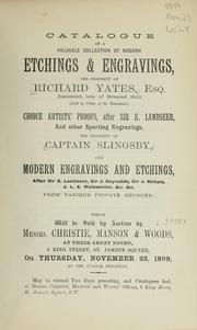 Cover of: Etchings & engravings; choice artists proofs; modern engravings and etchings