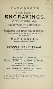 Cover of: Engravings of the early English school; mezzotints and engravings in colours; portraits; stipple engravings