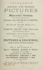 Cover of: Ancient and modern pictures and water-colour drawings