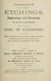 Cover of: Etchings, engravings and drawings