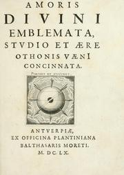 Cover of: Amoris divini emblemata