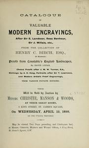 Cover of: Modern engravings; proofs from constable's English landscapes