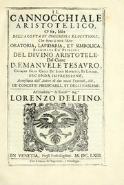 Cover of: Il cannocchiale aristotelico, o sia, Idea dell'arguta et ingeniosa elocutione