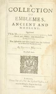 Cover of: A collection of emblemes, ancient and moderne