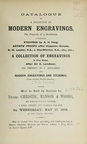 Cover of: Modern engravings