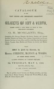 Cover of: Objects of art & vertu