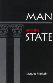 Cover of: Man and the state