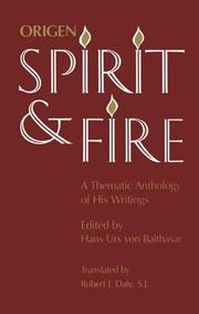 Cover of: Origen Spirit and Fire