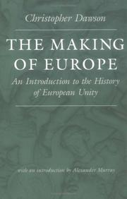 The making of Europe by Dawson, Christopher