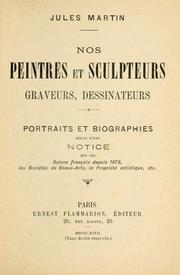 Cover of: Nos peintres et sculpteurs, graveurs, dessinateurs by Jules Martin