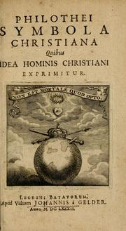 Cover of: Philothei Symbola christiana