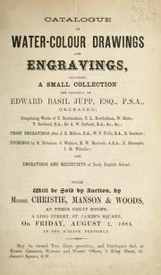 Cover of: Water-colour drawings and engravings