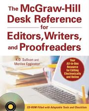 Cover of: The McGraw-Hill desk reference for editors, writers, and proofreaders by