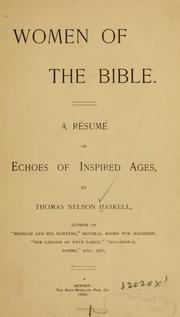 Cover of: Haskell's Women of the Bible, Wives of presidents, etc