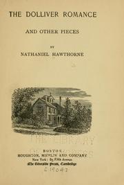 Cover of: The Dolliver romance, and other pieces