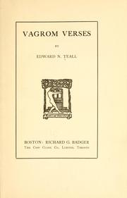 Cover of: Vagrom verses | Edward Nelson Teall