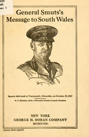 Cover of: General Smut's message to South Wales