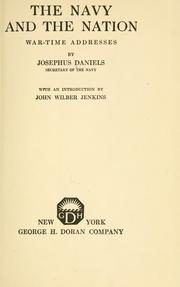 Cover of: The Navy and the nation | Daniels, Josephus