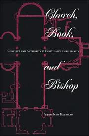 Cover of: Church, book, and bishop