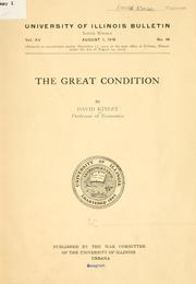Cover of: The great condition