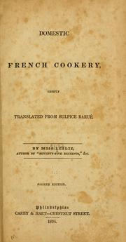 Cover of: Domestic French cookery by Leslie, Eliza