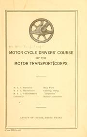 Cover of: Motor cycle drivers